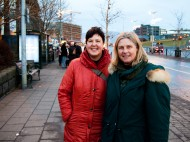 Susanne & her friend that I guided around the Golden Circle where happy aswell